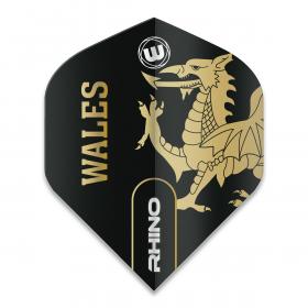 Rhino Black & Gold Flag - Wales