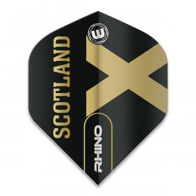 Rhino Black & Gold Flag - Scotland