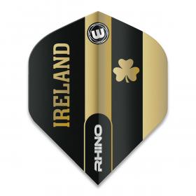 Rhino Black & Gold Flag - Ireland