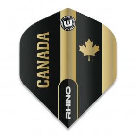 Rhino Black & Gold Flag - Canada