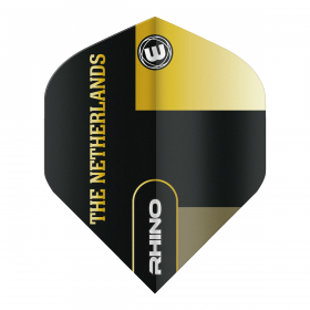 Rhino Black & Gold Flag - Netherland